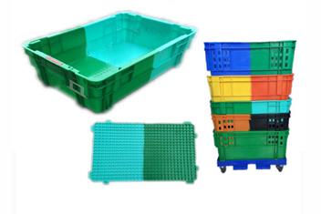 X270双色颠倒可堆式塑料箱