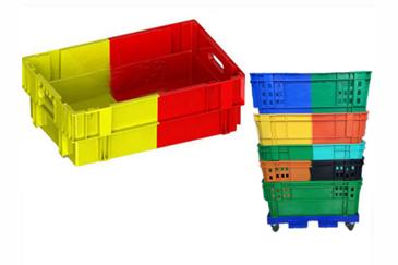 X276双色颠倒可堆式塑料箱