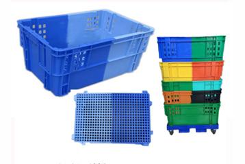 K278双色颠倒可堆式塑料筐