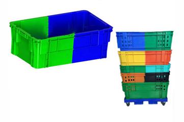 X279双色颠倒可堆式塑料箱