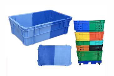 X271双色颠倒可堆式塑料箱